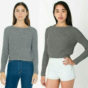 American apparel cropped fisherman sweater size L